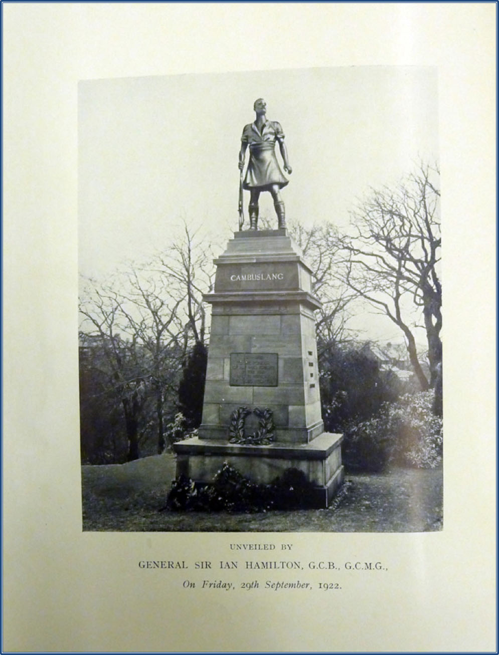memorial copy