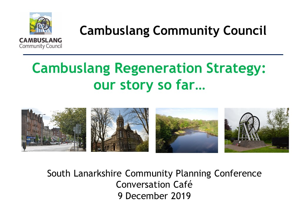 Presenting the story of our Cambuslang Regeneration Strategy