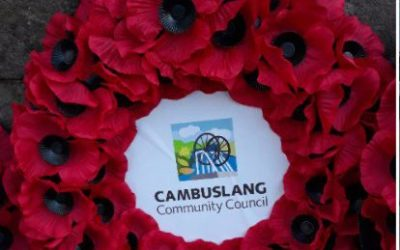 Our tribute on  Cambuslang Remembrance Sunday