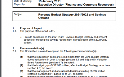 Our objections to savings options in the SLC 2021/22 revenue budget