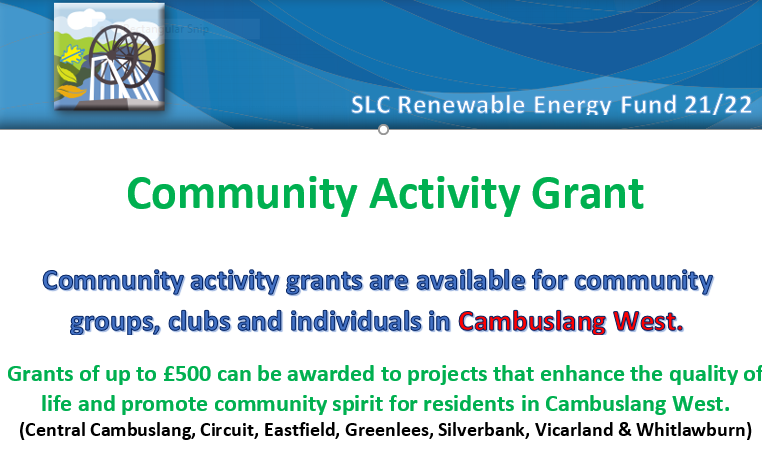 New Cambuslang community microgrant scheme is open for 2021/22